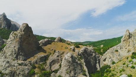 Rough mountain landscape