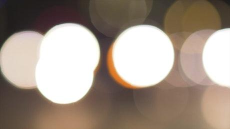 Round blinking lights