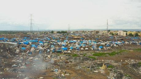 Rubbish site in Africa