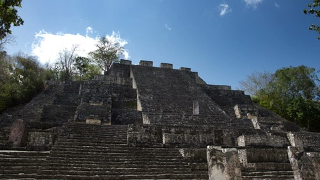 Ruins of a Mayan pyramid