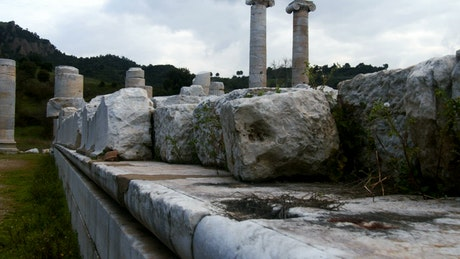 Ruins of the temple of Artemis at Sardes Lydia