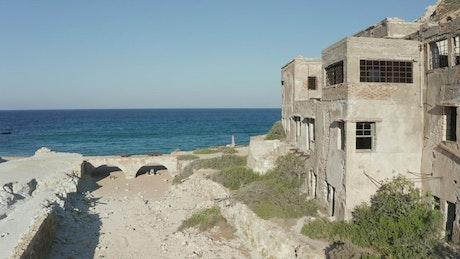 Ruins on the seashore
