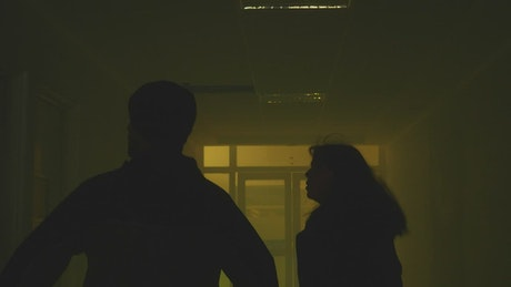 Running scared down a hospital hall at night