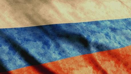 Russia Flag waving slowly