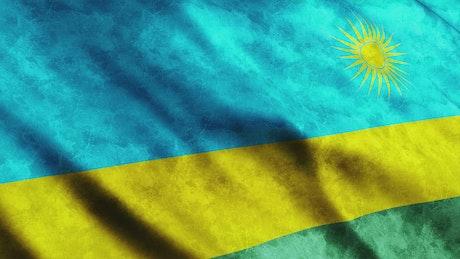 Rwanda flag, waving 3D