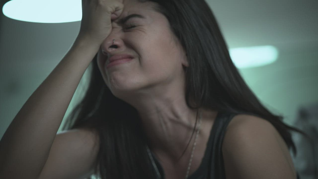 Sad and desperate girl crying and screaming - Free Stock Video