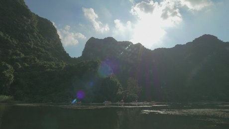 Sailing across Ha Long Bay