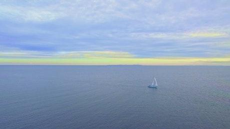 Sailing boat near the coast