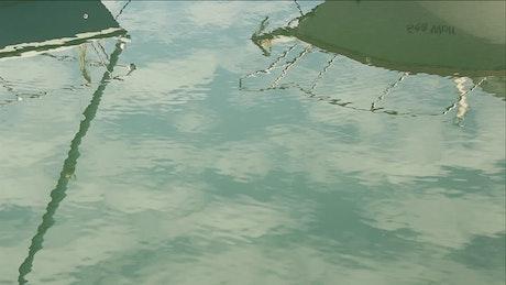 Sailing boats reflecting on the lake