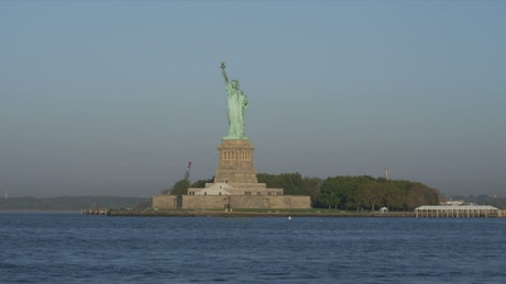 Sailing by the Statue of Liberty