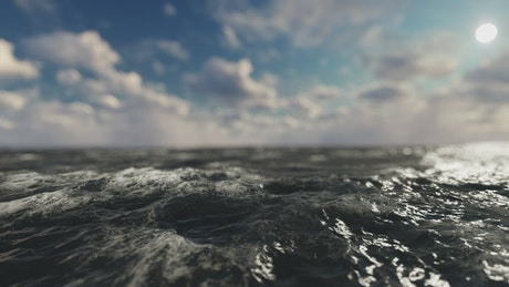 Sailing in the ocean, 3D animation