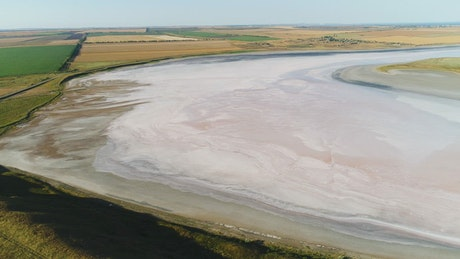 Salt flats between fields