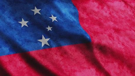 Samoa 3D render flag