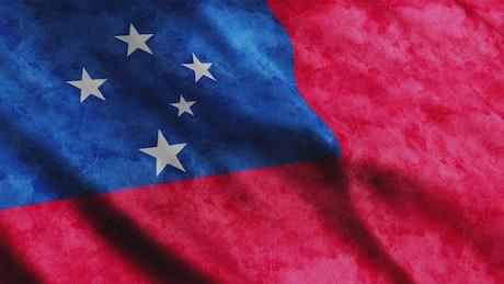 Samoa faded flag, full screen
