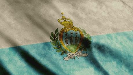San Marino flag in 3D animation