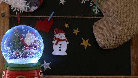 Santa Claus Christmas Snow Globe