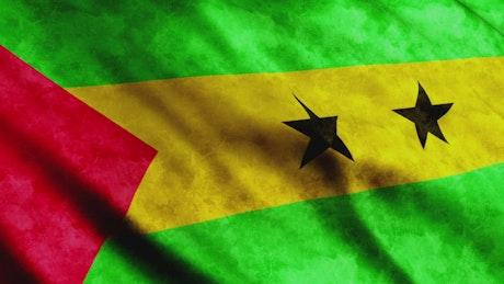 Sao Tome And Principe waving 3D flag