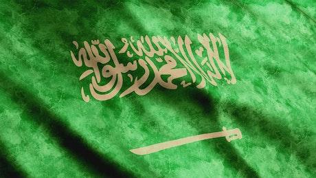 Saudi Arabia flag in detail