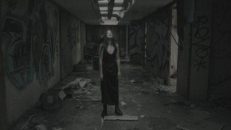 Scary ghost at an abandoned place