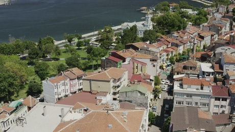 Scenic coastal town