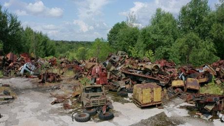 Scrapyard near Chernobyl