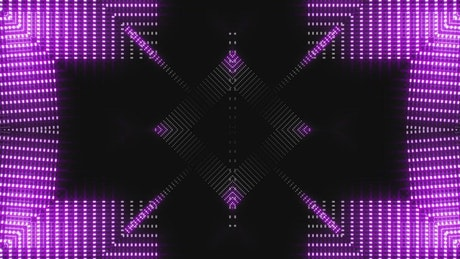 Screen with a purple light sequence in a prism