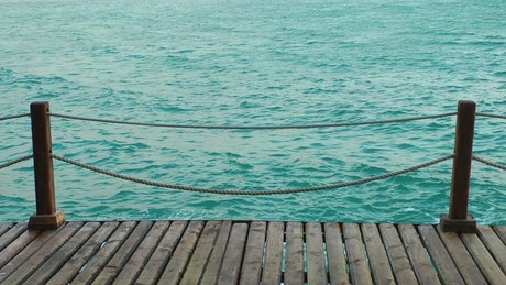 Sea view from a dock