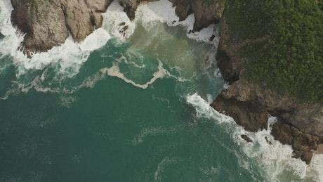 Sea waves in a little bay