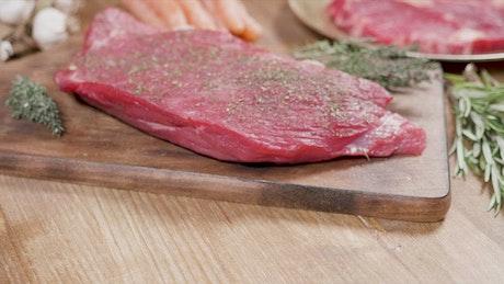 Seasoned steaks