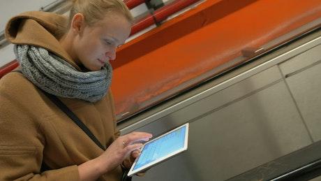 Sending an email on an escalator