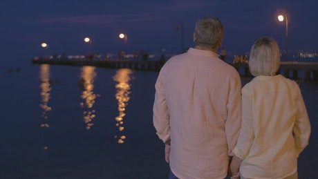 Senior couple at the waterfront