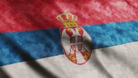 Serbia 3D flag, render animation