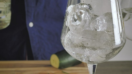 Serving Gin at home