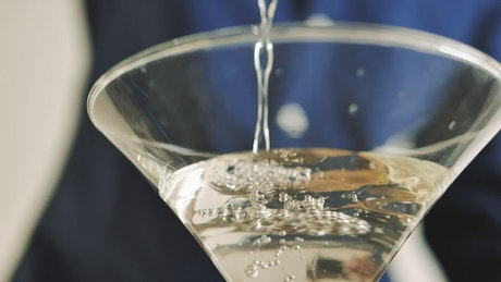 Serving in a martini glass