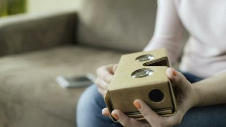 Setting up a virtual reality headset