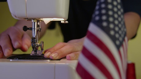 Sewing machine in America