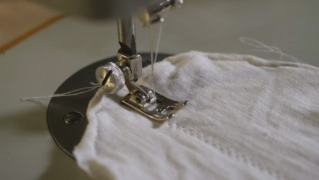 Sewing machine in slow motion
