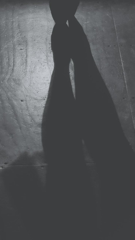 Shadow on the floor of a ballet dancer