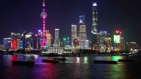 Shanghai urban city scape time lapse