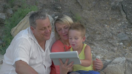 Sharing a video as a family