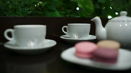 Sharing Tea with Macaroons