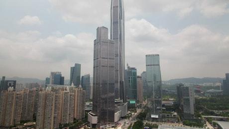 Shenzhen city landscape time lapse