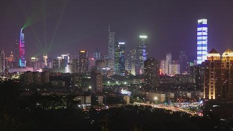 Shenzhen cityscape and city lights