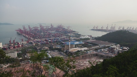 Shenzhen container port time lapse