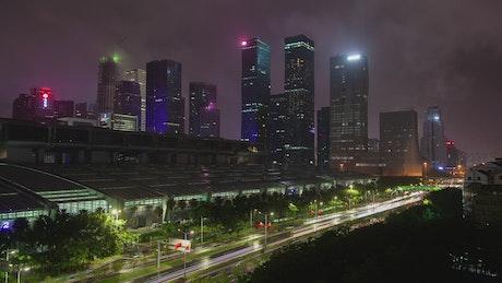 Shenzhen convention center at night
