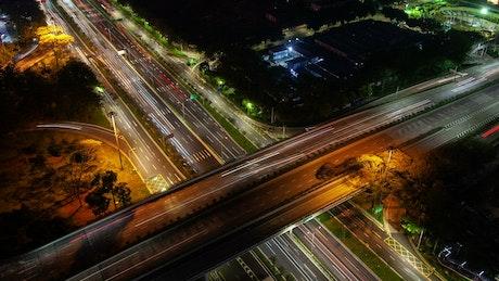 Shenzhen highway junction with fast traffic
