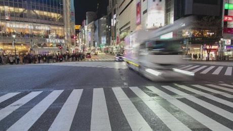 Shibuya crosswalk time lapse