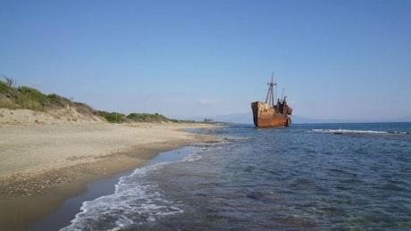 Shipwreck in the beach