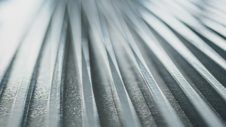 Silver corrugated metal