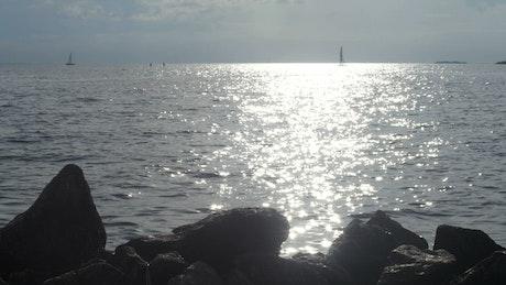 Silver ripples across the coast
